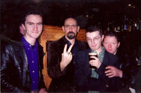 Mark Eitzel post 1997 Whelan's gig with  Niall Crumlish, Nick Kelly and George Byrne Photo (C) Lorraine Freeney
