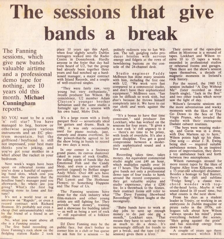 ian wilson irish times 1990 a