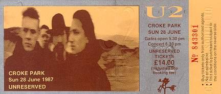 u2 croke park 1987